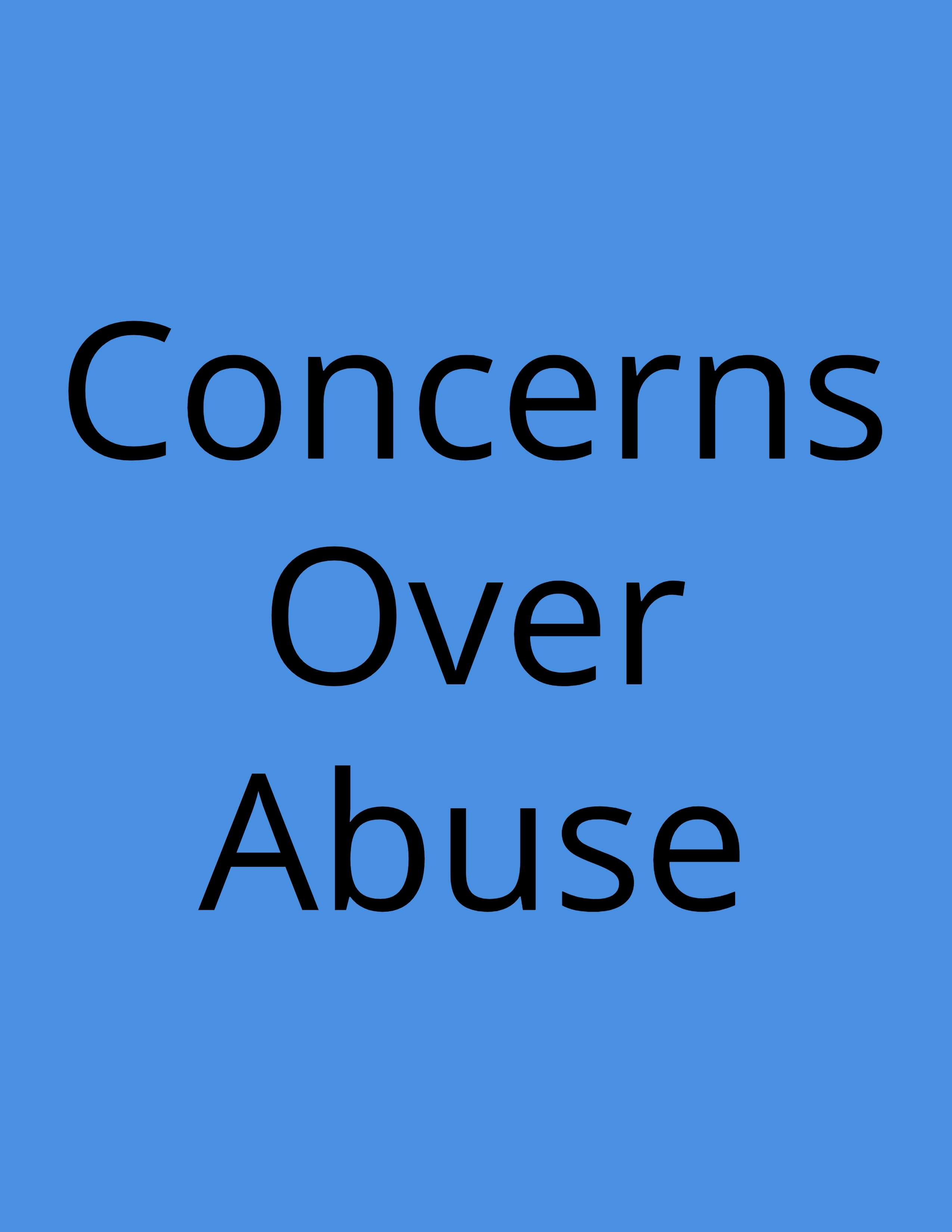concerns over abuse